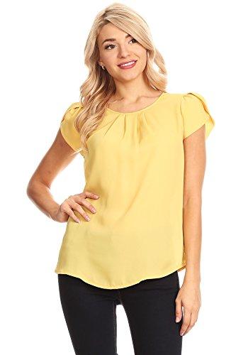 April Apparel Women's Basic TOP (Medium, Mustard)