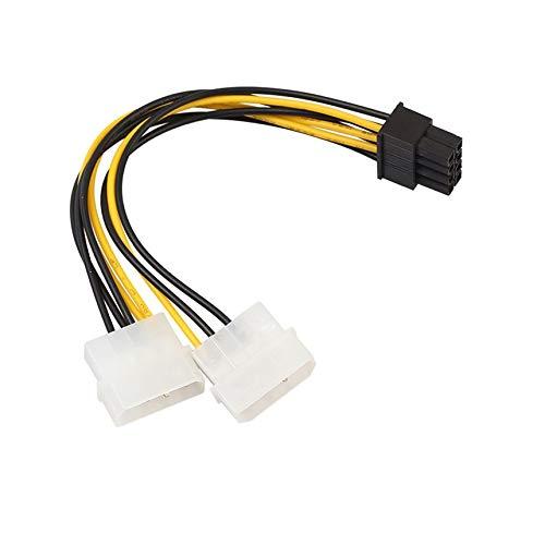 Robincure 8ピン/6+2P - デュアル 4P グラフィックスカード 電源ラインコネクター ポータブル電源ケーブル   B07MPS1P82