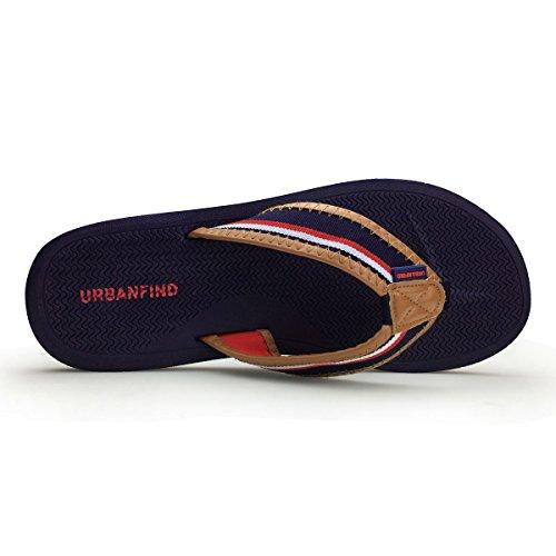 Urbanfind Mens Retro Brittisk Stil Flip Flops Tofflor Blå