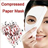 Best Paper Face Masks BFlowerYan 100 pcs Skin Face Care DIY Facial Paper Compress Masque Mask