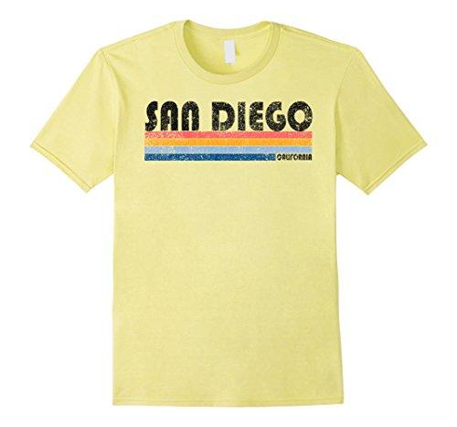 Mens Vintage 1980s Style San Diego California T Shirt Large - Diego Men's San Style