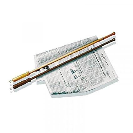 Tellier 48287-19 - Palo para periódico (75 cm, Madera Oscura)