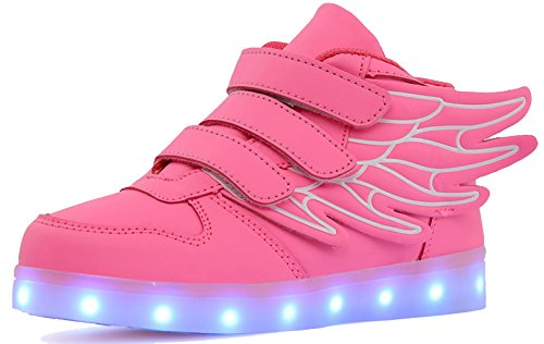 Sweeting Fashion Children Led Light Sneakers Baby Kids Brand Luminous USB Glowing Shoes Boys Girls Sneakers Light Sports Shoes ST1188P-32