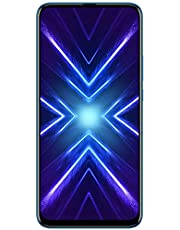 HONOR 9X Dual SIM Mobile Phone, 6.59 Inch, 6 GB RAM, 128 GB, 4G LTE - Sapphire Blue