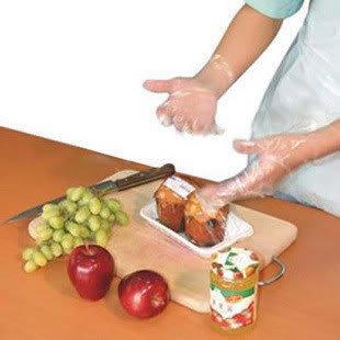 100pcs Pack Disposable Plastic Thin Sanitary Gloves Restaura