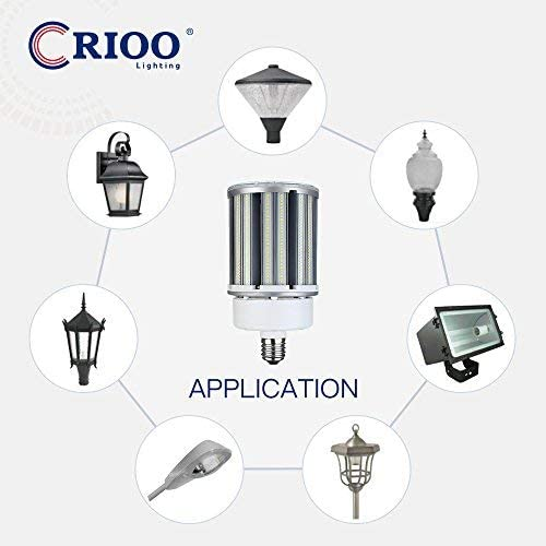 CRIOO LED Corn Light Bulb 100W 5000K Cool Daylight 135lm//w UL/&DLC Thermoelectric Separation Corn Bulb for Outdoor Street Warehouse Barn Pack of 3