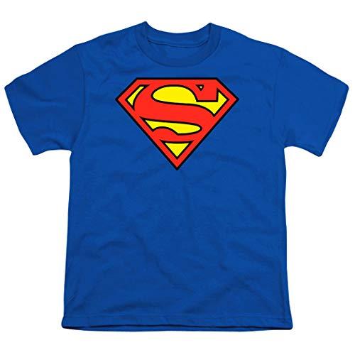 Popfunk Superman Logo Youth T Shirt (X-Large) Royal ()