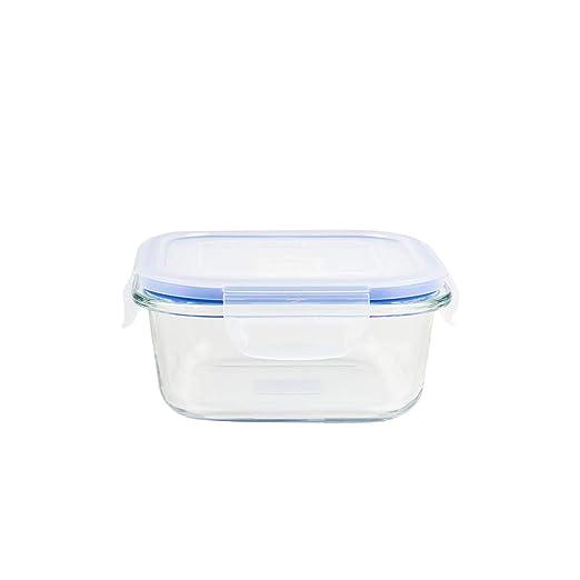 CV2 - Taper Cuadrado Hermético Cristal 50Cl: Amazon.es: Hogar