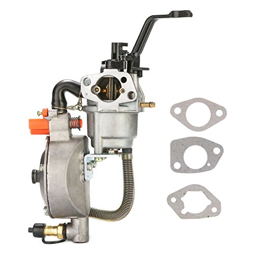 NIMTEK Dual Fuel Carburetor LPG Conversion kit for Generator 4.5-5.5KW GX390 188F Carburetor ()