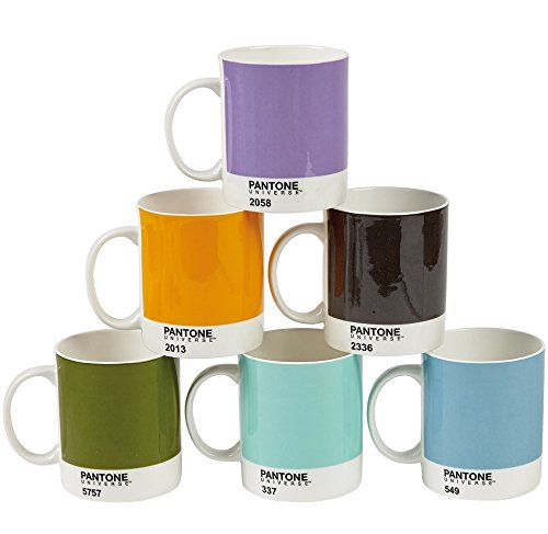 Pantone Universe Bone China Mug, Design Colors, Set of 6
