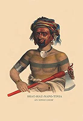 "Shau-Hau-Napo-Tinia (and Ioway Chief)Fine art canvas print (20"""" x 30"""")"