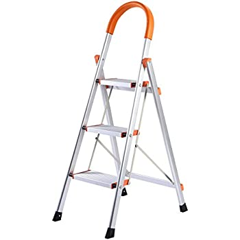 Polder Ultra Light Aluminum 3 Step Ladder Stepladders