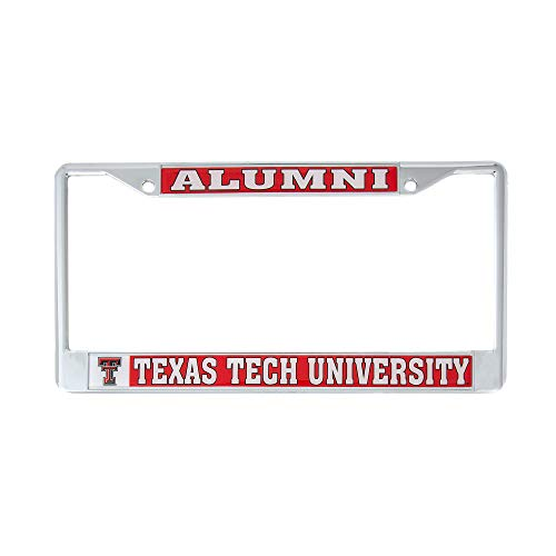 Desert Cactus Texas Tech University Alumni Metal License Plate Frame for Front Back of Car Officially Licensed Raiders (Alumni) (License Plate Frames Texas)
