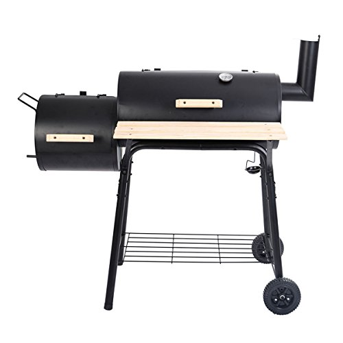 Deluxe Outdoor BBQ Grill Charcoal Barbecue Pit Patio Backyard Home Meat  Cooker Smoker by Everyday Big - Deluxe Outdoor BBQ Grill Charcoal Barbecue Pit Patio Backyard Home