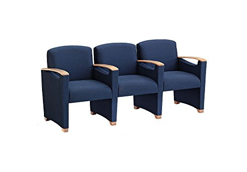 Fabric Three Seater with Center Arms Dimensions: 72