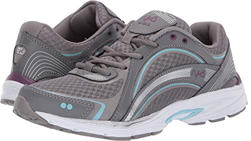 - Ryka Women's Sky Walk Cloud Grey/Magenta 8.5 Wide US