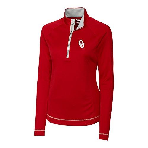 Cutter & Buck NCAA Oklahoma Sooners Women's CB Dry Tec Long Sleeve Evolve Half Zip Tee, Small, Cardinal ()