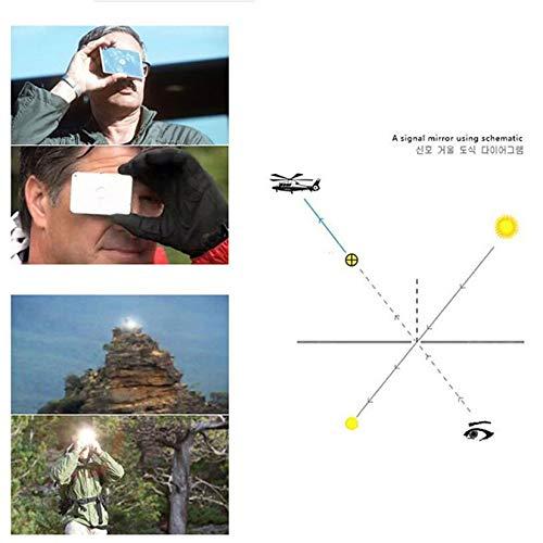 Zengbuks Espejo Marino Se/ñal de Supervivencia del Barco Espejo de la se/ñal de Supervivencia del Campo Espejo de la se/ñal de Supervivencia