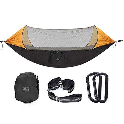ETROL Upgraded 2 in 1 Large Camping Hammock with...