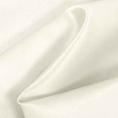 Ivory Matte Satin (Peau de Soie) Fabric - by the (Peau Satin Dress)