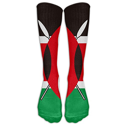 Futong Huaxia Kenya Flag Mens Womens Funny Dress Athletic Work Long Knee High Stockings Tights One Size