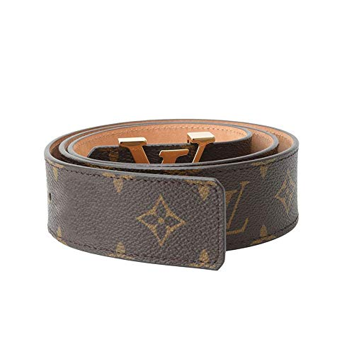 Women's Fashion Designer Brown Gold Belt Genuine Leather Alloy Buckle Casual Business For Men and Women (flc105cm)