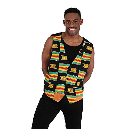 utopia africa African-Made Ashanti Vest - Multicolor by utopia africa