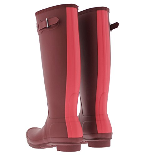 Boots Hunter Rain Stripe Womens Original Bright Watermelon Synthetic Damson wrqrXBz
