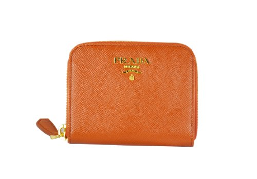 c433c8213b4a PRADA Saffiano Leather Zip Around Wallet Coin Purse Rame Orange 1M0268 -  Buy Online in KSA. Shoes products in Saudi Arabia. See Prices, Reviews and  Free ...