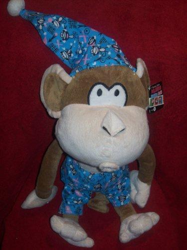 CHRISTMAS -Gift -Plush Toy - Limited Edition Bobby Jack (tm) in Pajamas Stuffed Monkey Character 18