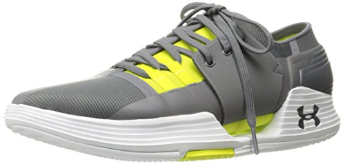 Under Armour Men's Speedform AMP 2.0 Sneaker, Graphite (040)/Smash Yellow, 10.5