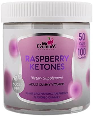 Mr Gummy Vitamins Raspberry Ketones Sugar Free Dietary Ketogenic Supplement | Promotes Healthy Weight Loss, Supports Metabolism & Provides Strength | [100 Gummies, 50-Day Supply] | for Men and Women