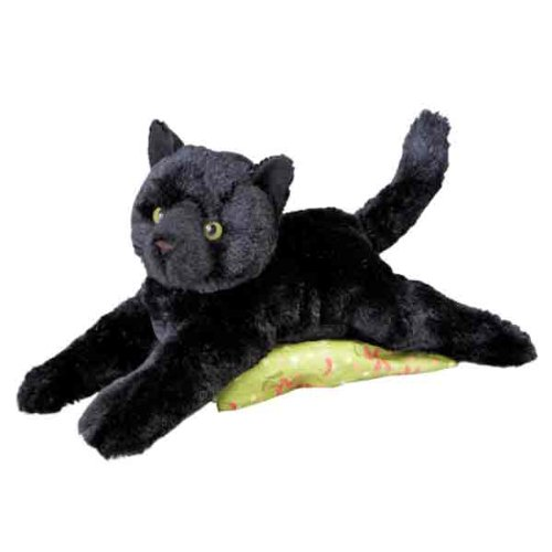 Douglas Cuddle Toys Plush Tug Black Cat Soft and Cuddly