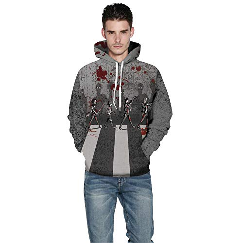 Unisex 3D Skeleton Print Sweatshirts Hooded Pullover Colorful