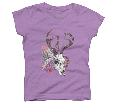 Ritual Deer (new colour) Girl's X-Large Purple Berry Youth Graphic T (Crystal Berry Wreath)