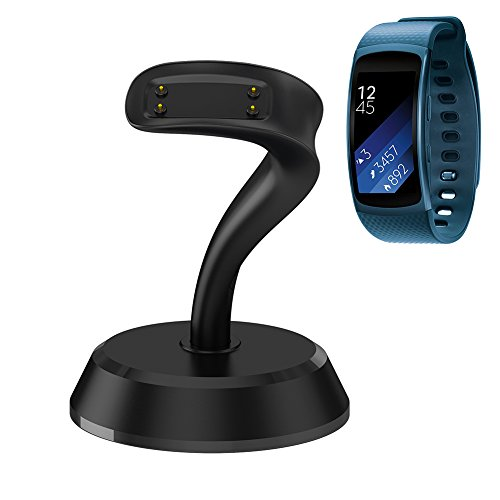 Gear Fit 2 / Gear Fit 2 Pro Charger, GOOQ Portable Charging Stand Replacement Charger Cradle Dock Station for Samsung Galaxy Gear Fit 2 Pro SM-R365 / Gear Fit 2 SM-R360 Smart Watch