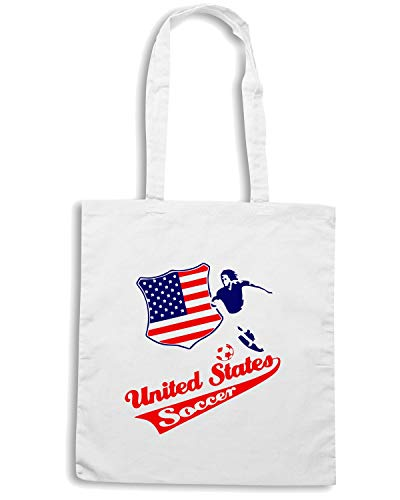 Borsa Shopper Bianca WC0117 USA STATI UNITI UNITED STATE