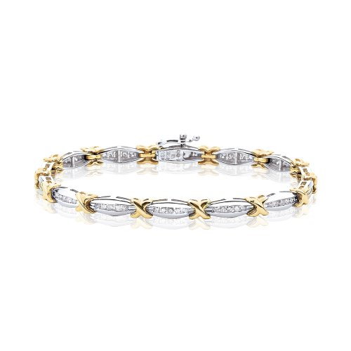 - KATARINA Diamond Tennis Bracelet in 14K Two Tone Gold (1 1/10 cttw) - 8