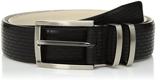 Mezlan Men's Belts Men's Madrid Vaqueta, black, 320 (Mezlan Black Belt)