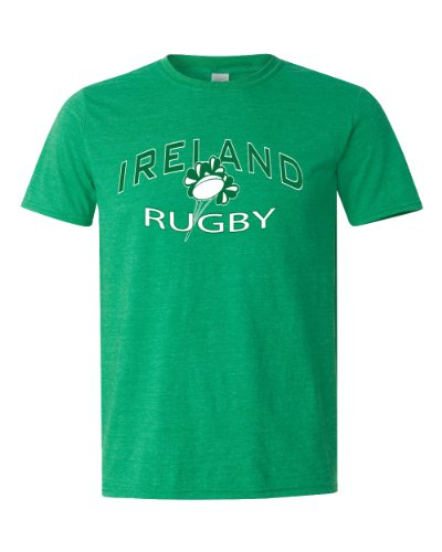 Ireland Rugby Supporter T (Heather Irish Green, Adult Large)