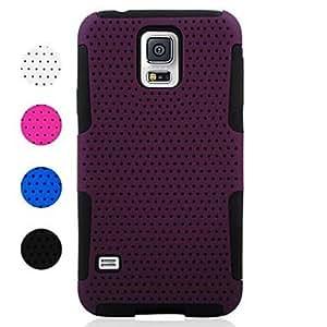GX Teléfono Móvil Samsung - Cobertor Posterior - Patrón de Cuadrícula/Diseño Especial - para Samsung S5 i9600 ( Negro/Blanco/Azul/Púrpura/Rosa , , Purple
