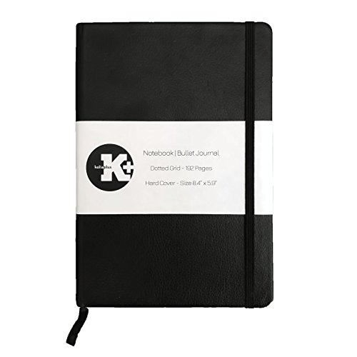 Hardcover Notebook - Bullet Journal by Kolia Plus - Dotted Grid Paper 192 Pages - Size 8.4