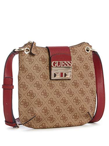 Brown GUESS Crossbody Luxe Logo Tourist CwwTaBq