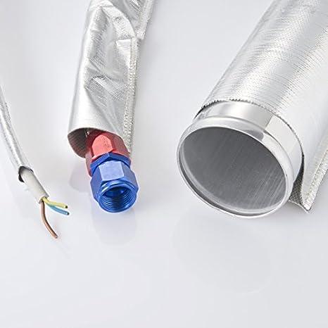 1 Meter Alu-Kevlar Hitzeschutzschlauch Innendurchmesser: 75mm