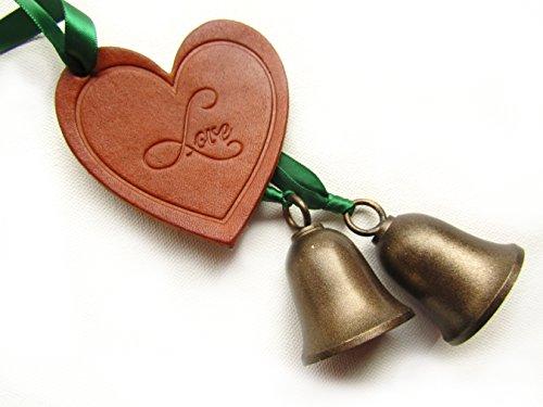 Irish Wedding Bells. Solid Brass Kissing Bells. Celtic Wedding Tradition Gift. (Irish Make Up Bell)