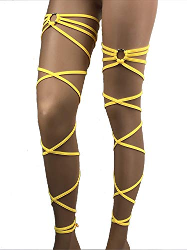 "Black rhinestone 100/"" solid gartered leg wrap"