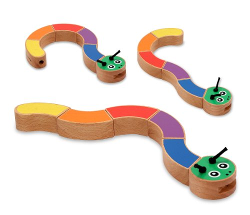 Melissa & Doug Caterpillar Wooden Grasping Toy for