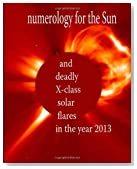 Numerology for the Sun: and deadly X-class solar flares in the year 2013