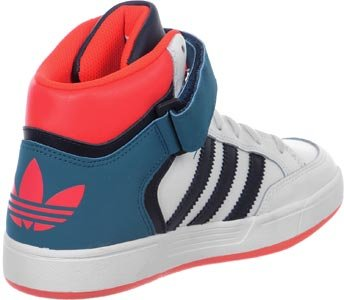 adidas Varial Mid J W Scarpa 4,0 white/petrol/red