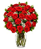 Flowers - Two Dozen Long Stemmed Red Roses